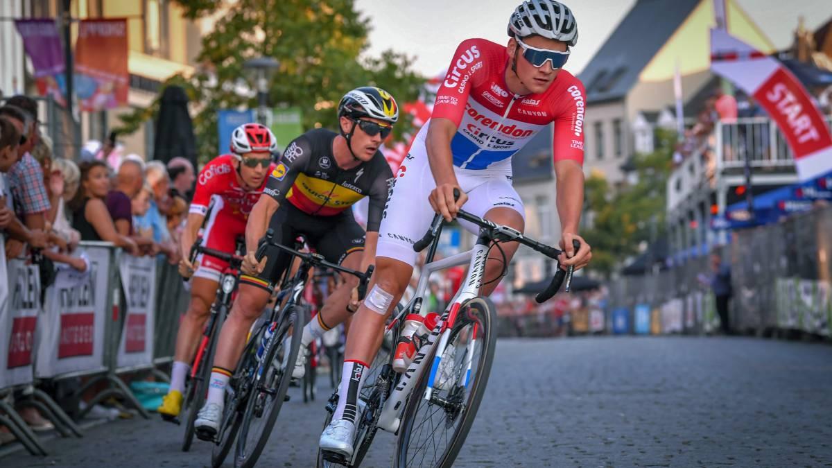 Van der Poel tira medidas ao percurso do Paris-Roubaix