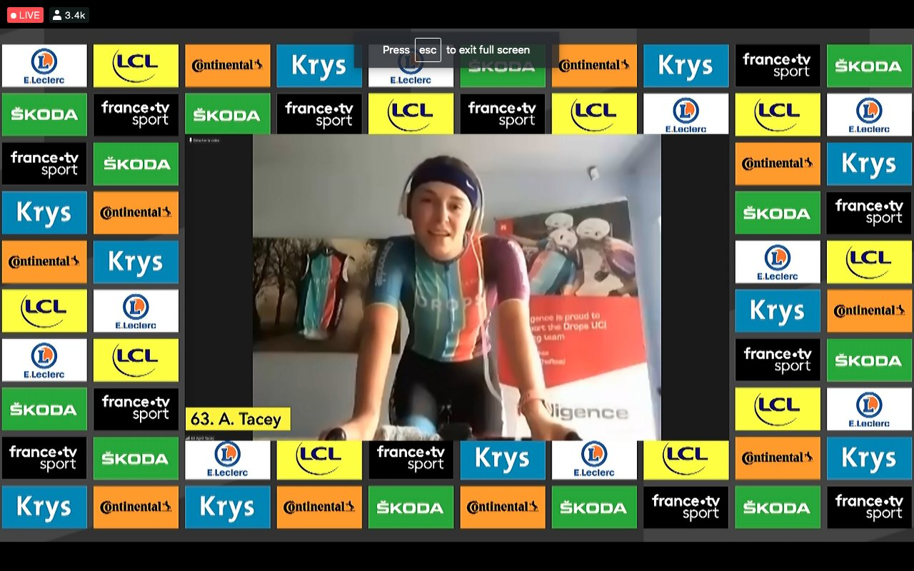 Virtual TdF – April Tacey primeira vencedora!