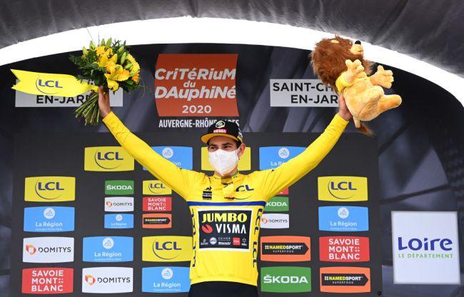 Van Aert primeiro líder do Dauphiné!