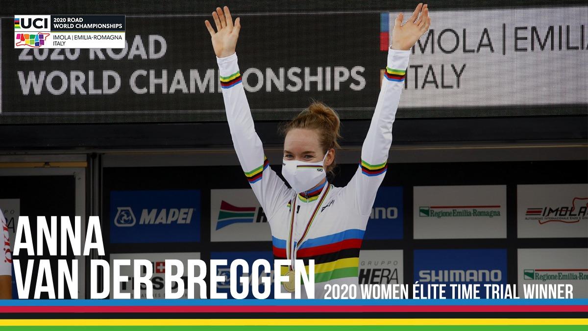 Depois do Europeu, Breggen é agora campeã do Mundo de contrarrelógio pela primeira vez na carreira!