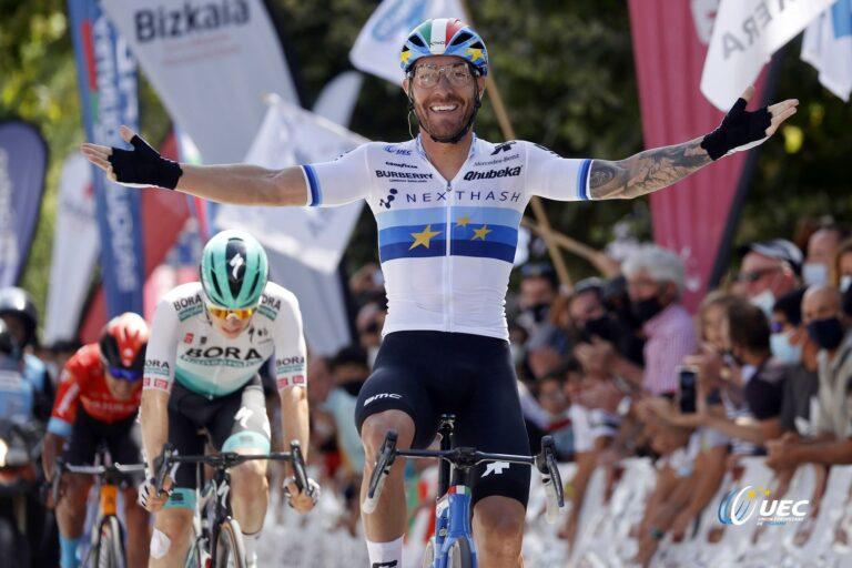 Desta vez Nizzolo não desperdiçou e vence ao sprint o Circuito Getxo!