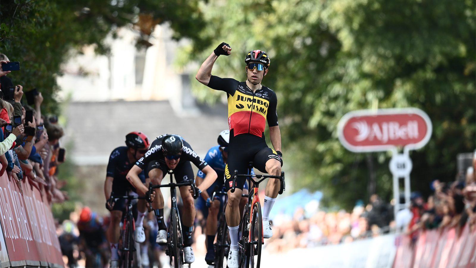 Wout Van Aert vence primeira etapa é o primeiro líder do Tour of Britain!