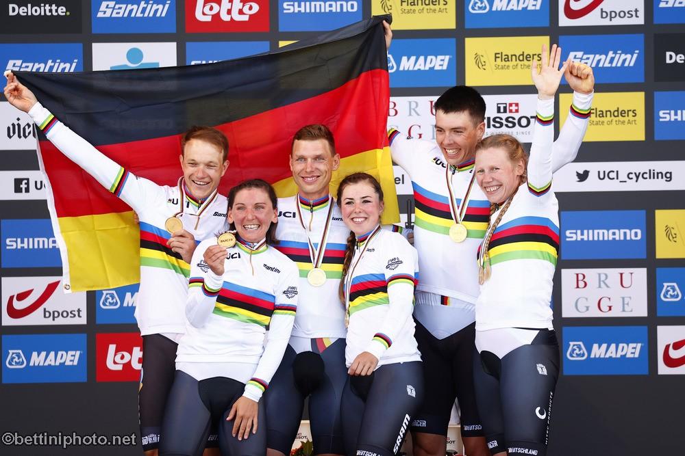 Alemanha é a nova Campeã Mundial de Contrarrelógio Coletivo em Estafetas Mistas!